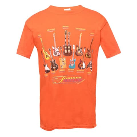 Left Handed Guitar Shirts - Famous Guitars