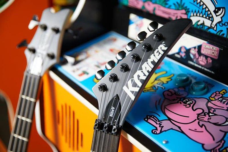 Headstock of a Kramer Nite-V guitar