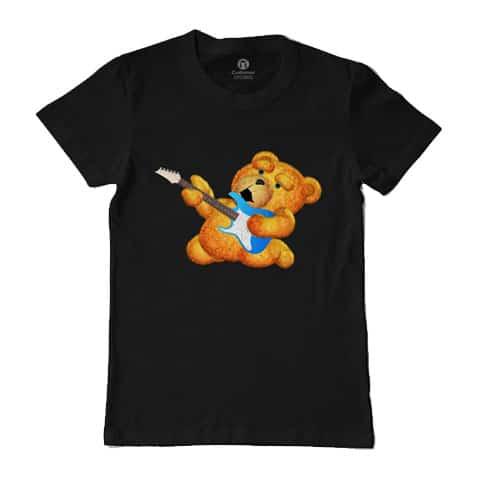 Left Handed Guitar Shirts - Lazzy Teddy Bear