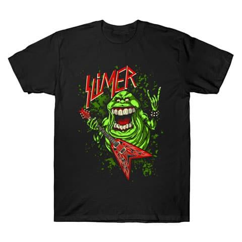 Left Handed Guitar Shirts - Slimer Thrashin' Mad