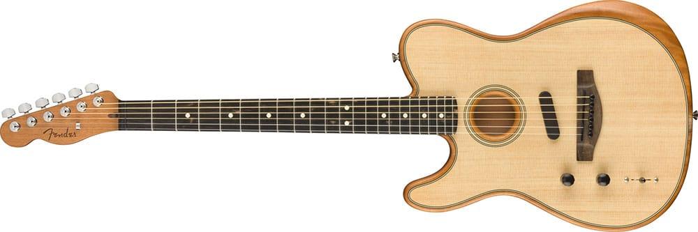 Left Handed Fender Guitars - American Acoustasonic Telecaster (Natural)