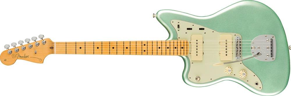 Left Handed Fender Guitars - American Professional II Jazzmaster (Mystic Surf Green)