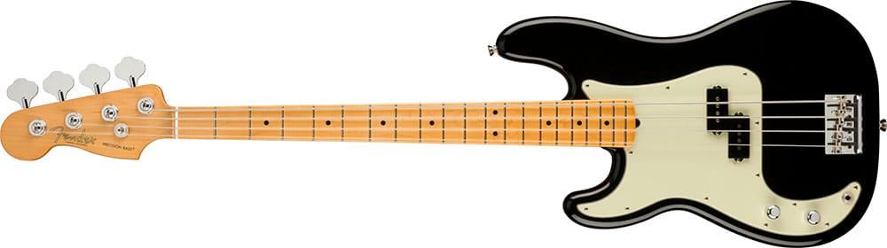Left Handed Fender Guitars - American Professional II Precision Bass (Black)