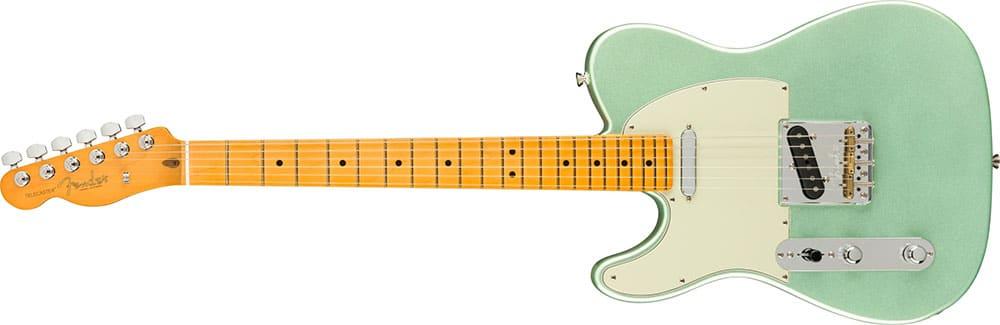 Left Handed Fender Guitars - American Professional II Telecaster (Mystic Surf Green)