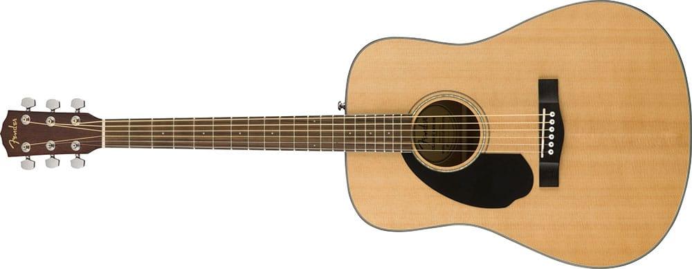 Left Handed Fender Guitars - CD-60S Dreadnaught (Natural)