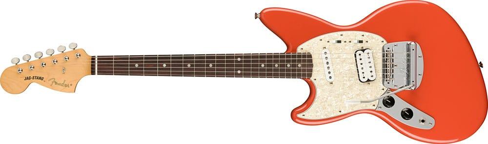 Left Handed Fender Guitars - Kurt Cobain Jag-Stang (Fiesta Red)