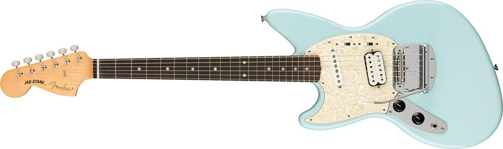 Left Handed Fender Guitars - Kurt Cobain Jag-Stang (Sonic Blue)