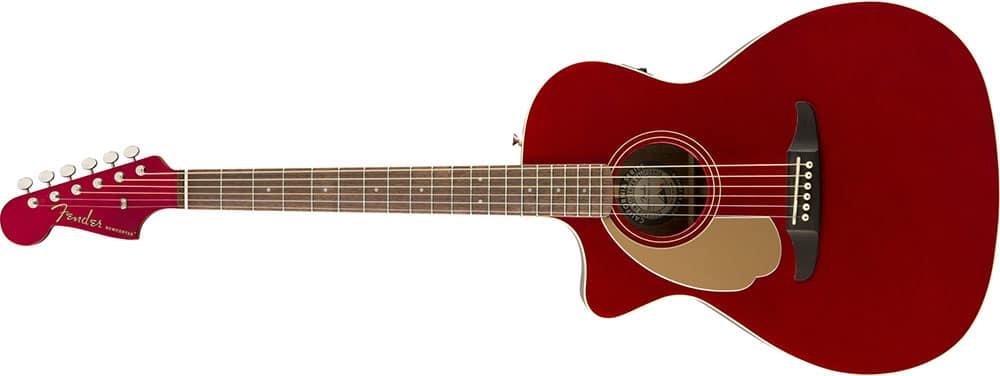 Left Handed Fender Guitars - Newporter Player(Candy Apple Red)
