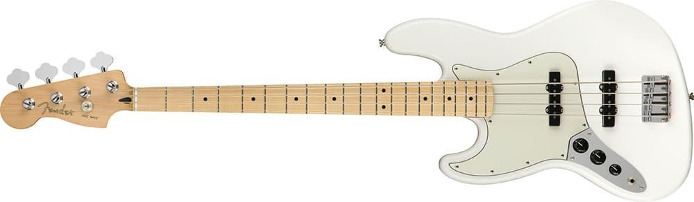 Left Handed Fender Guitars - Player Jazz Bass (Polar White)