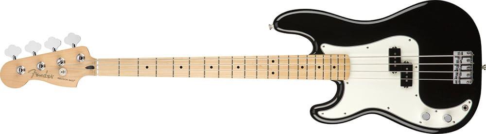 Left Handed Fender Guitars - Player Precision Bass (Black)