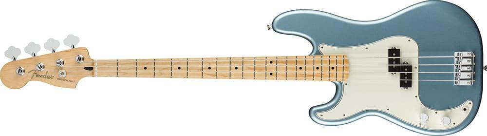 Left Handed Fender Guitars - Player Precision Bass (Tidepool)