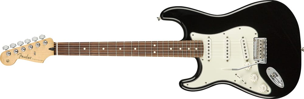 Left Handed Fender Guitars - Player Stratocaster (Black)