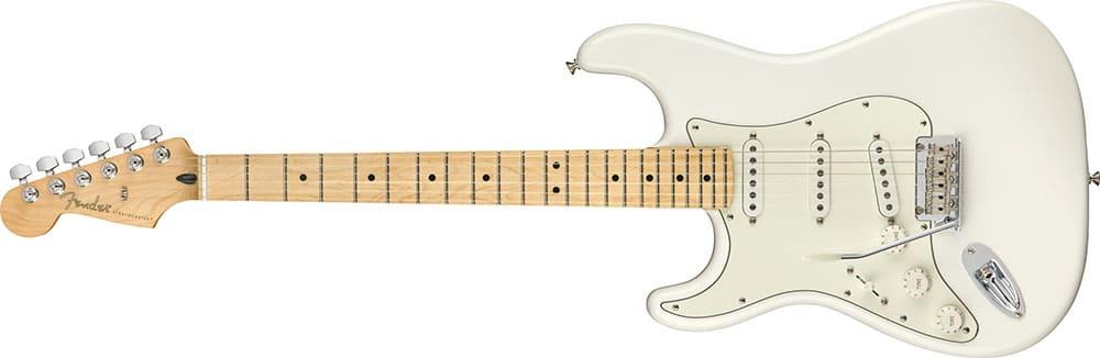 Left Handed Fender Guitars - Player Stratocaster (Polar White)