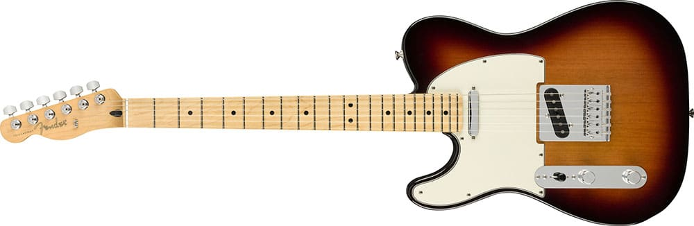 Left Handed Fender Guitars - Player Telecaster (3-Color Sunburst)