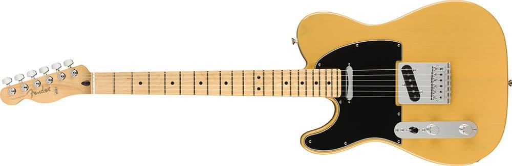 Left Handed Fender Guitars - Player Telecaster (Butterscotch Blonde)