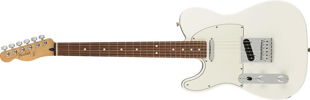Left Handed Fender Guitars - Player Telecaster (Polar White)