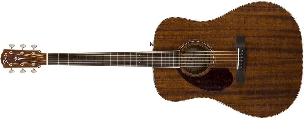 Left Handed Fender Guitars - PM-1 Dreadnought All Mahogany (Natural)