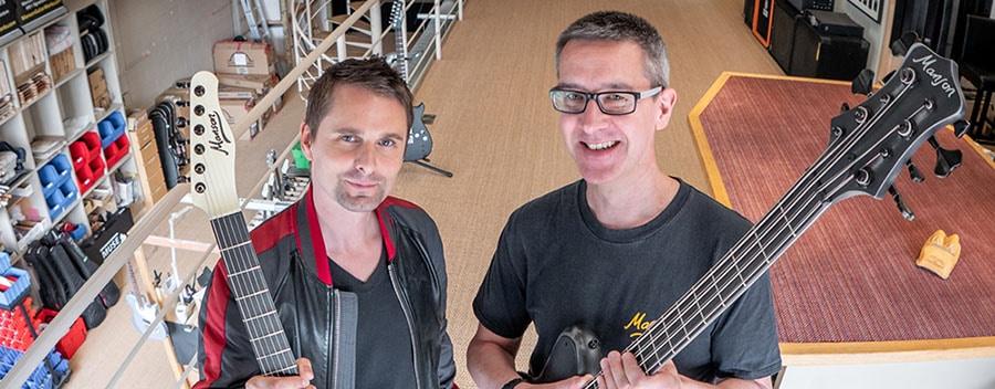 Matt Bellamy and Adrian Ashton